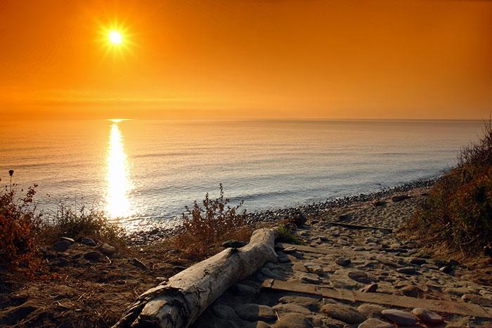 Shore sunset